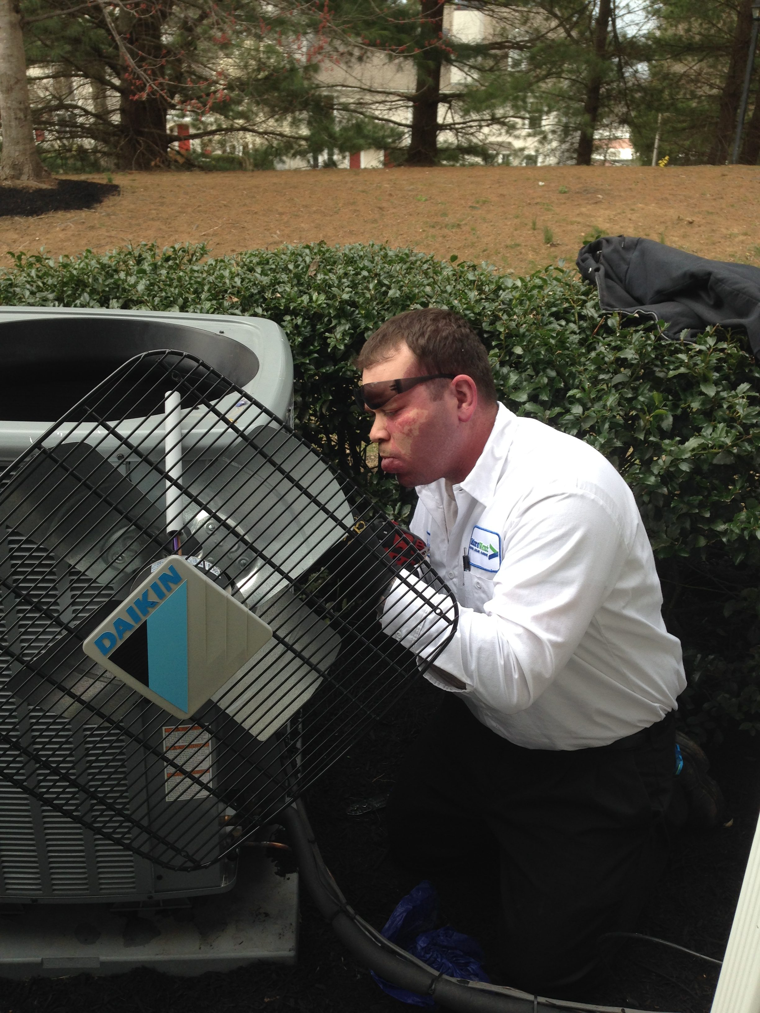 Repairing an AC unit in West Chester
