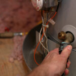 gas water heater in home